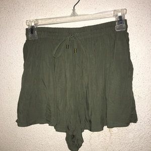 Olive green, flowy shorts!